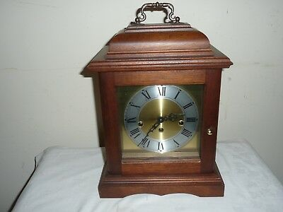 Hermle Bracket Clock, Westminster Chimes, 340 - 020 Movement, Working Order.
