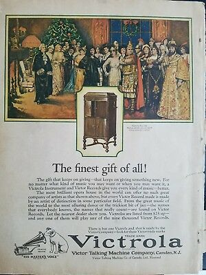 1923 Victor Talking Machine Co victrola no 360 color vintage phonograph ad