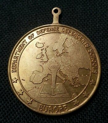 1980 Usa Uk Dept Of Defense Champions Volley Ball Sports Medal 19.62 Gr 40.1 Mm!
