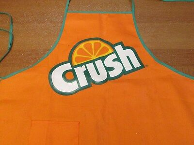 Vintage ORANGE CRUSH Advertising BBQ Apron    Vintage from the 1980's
