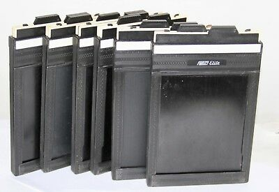 6 4x5 Fidelity Elite Plastic Cut Film Holders In Very Nice Condition