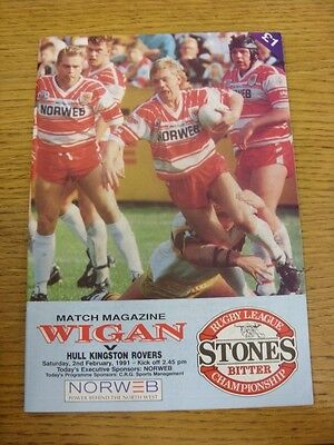 10 03 1991 Rugby League Programme Wakefield Trinity v Hull Kingston