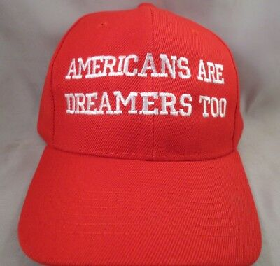 Embroidered Americans Are Dreamers Too Hat Trump For President 2020 Red Reelect
