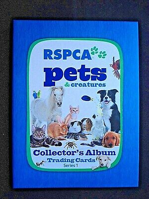 2014 *rspca Pets & Creatures* Series 1 Complete 120 Card Set With Album