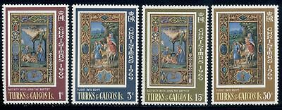 Turks & Caicos Islands Scott #196-199 MNH CHRISTMAS 1969 ART $$