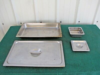 """VOLLRATH Stainless Steel Steam Table Pan with Lid 21""""x 13"""", 7""""x 6-1/2"""" Deep 2.5"""""""