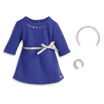 """* AMERICAN GIRL 18"""" OUTFIT Blue Rhinestone Studded Dress Headband for doll - NEW"""