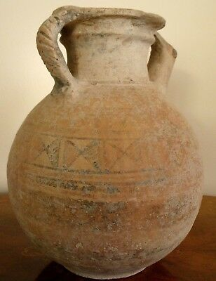 ANCIENT ARTEFACT. INDUS VALLEY JUG. ca.1300 B.C. 30cm ht. Original Paint, INTACT