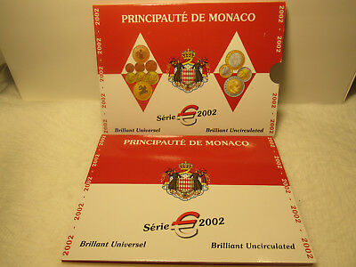 Monaco Euro Kms 2002, Brilliant Uncirculated,  Im Orig Folder.