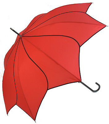 Blooming Brollies Swirl Auto Stick Umbrella - Red