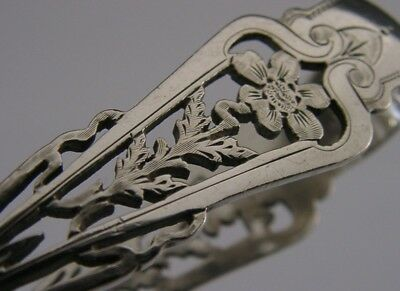 Stunning Art Nouveau Sterling Silver Sugar Tongs 1902 Antique