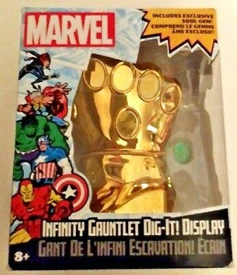 Marvel Infinity Gauntlet Dig It Display With Soul Gem MIB Thanos Collectible Fun