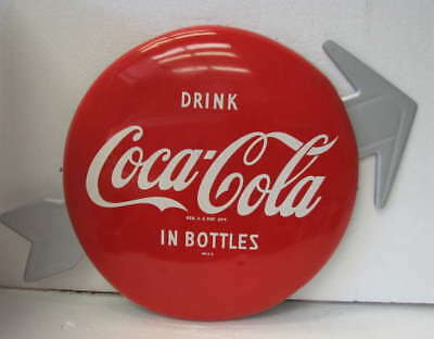 "Coca Cola Arrow For 12"" Button Sign Display """""" Only Six Left Forever"""""""
