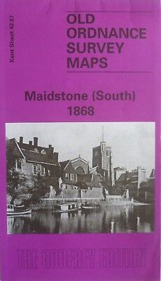 Old Ordnance Survey Map Detailed Maidstone South Kent  1868 Sheet 42.07 New Map