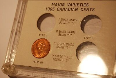 Canada 1965 Cent Type Case with Type 3