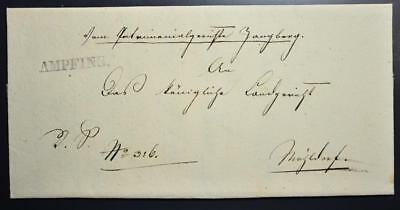 GERMANY 1830 Rare AMPFING Line Postmark on Cover to.. LOOK , Deutschland,Bavaria