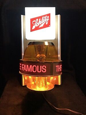 1965 Schlitz Beer Sign Spinning Barrel Amber Keg BackBar Series Form 170-F