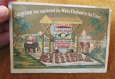1880s Soapine has Supplanted the WHite Elephant in the East Advertising Card