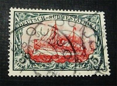 nystamps German South West Africa Stamp # 34 Used $300 Signed