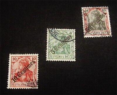 nystamps German Offices Abroad Turkish Empire Stamp # 55 // 58 Used $62 Signed