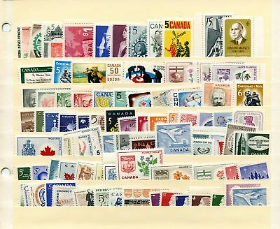 Lot 66437 Canada  Mint Nh Canadian Stamp  Collection From The 1960's