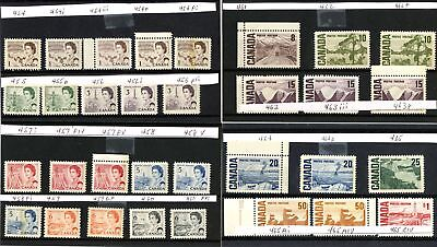 Lot 66526 Canada  Mint Nh Canadian Centennial Stamp Collection With Varieties