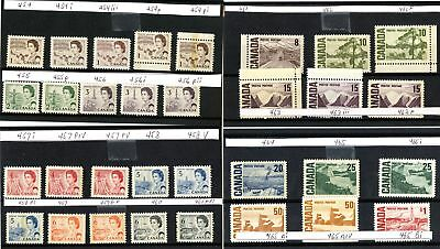 Lot 66527 Canada  Mint Nh Canadian Centennial Stamp Collection With Varieties
