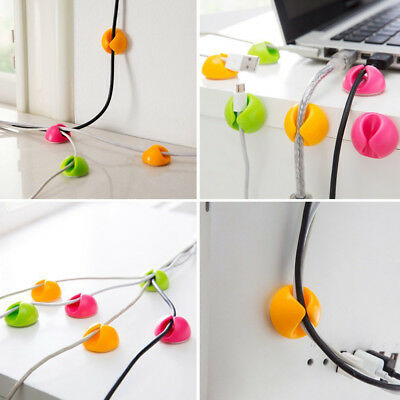 10pcs/set Self-adhesive Cable Clip Organizer charging cable usb cable Holder