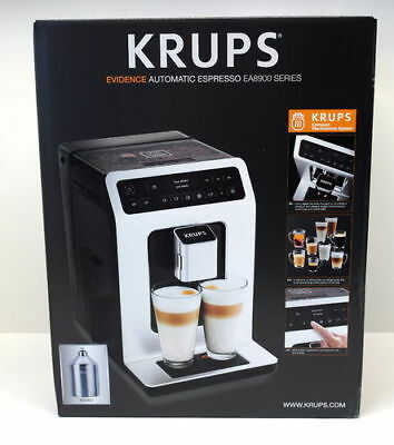 Krups Kaffeevollautomat EA891D Evidence One-Touch-Cappuccino, OLED Touchcreen