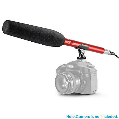 Neewer Pro Red Shotgun Condenser Microphone for Canon Nikon Sony Camcorder DSLR