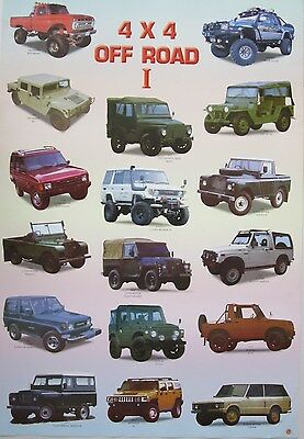 4 x 4 OFF ROAD I POSTER FROM ASIA: Hummer,Jeep,Range Rover,Land Cruiser,Suzuki