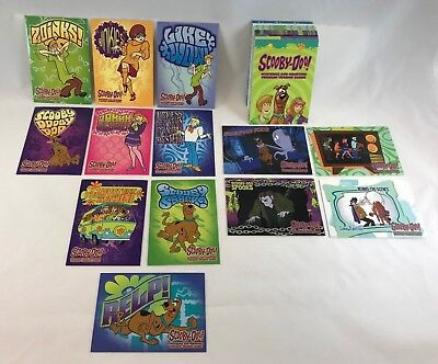 SCOOBY DOO MYSTERIES & MONSTERS CARTOON Complete 72 Card Set w/ STICKER SET too!