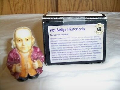 "(X) Harmony Kingdom Pot Bellys ""BENJAMIN FRANKLIN- -NIB"