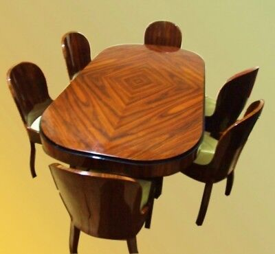 in 12 weeks Rosewood Art Deco style Conference/dining set