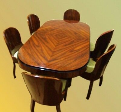 in 14 weeks Rosewood Art Deco style Conference/dining set