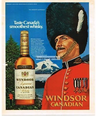 1972 Windsor Canadian Whiskey Windsor Guardsman Vtg. Print Ad