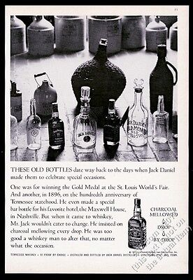 1970 Jack Daniel's Daniels whiskey antique JD bottle jug photo vintage print ad