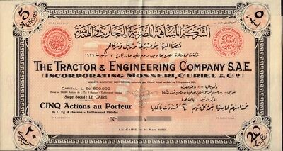 EGYPT  The  Tractor & Engeering Co ( Inc Mosseri Curiel Co ) Cairo 1950