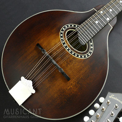 EASTMAN MD304 A-Style Mandoline, Ovales Schall-Loch, vollmassiv, Nitro-Lack