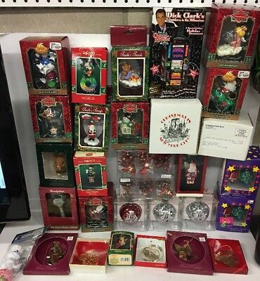 Huge Lot Of 30 Vintage Christmas Ornaments All New In Box Enesco NYC RCMH & More