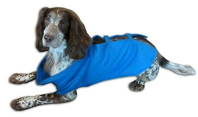 Dog Snuggy Dog Coat Rug Washable Rug Style Blanket Adjustable Blue Springer Size