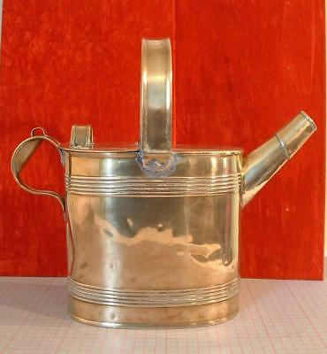 Antique solid brass watering / hot water can   6pt.