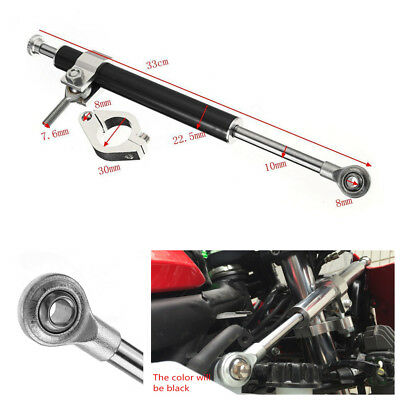 330mm Aluminum Steering Damper 6 way Adjust Stabilizer Linear For Motorcycle ATV