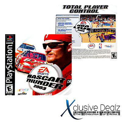 Game Manual for NASCAR Thunder 2003 PlayStation 1 PS1 VG CON. #XclusiveDealz