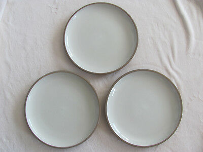 Dansk Plateau Khaki - Light Brown - Made in China - Set of 3 Dinner Plates
