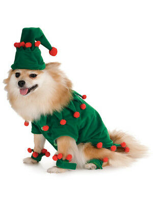 Red Green Christmas Elf Santa's Helper Dog Pet Costumes