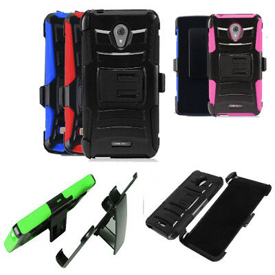 Phone Case for Alcatel Raven LTE A574BL ( Tracfone ) Holster Cover Stand