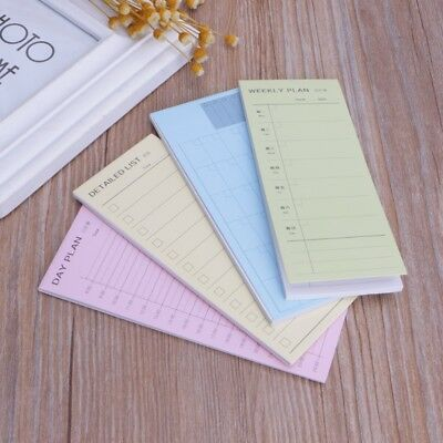 Daily Weekly Monthly Inventory Planner Notebook Sticky Note Pads Schedule Memo
