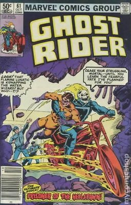 Ghost Rider (1st Series) #61 1981 VG Stock Image Low Grade