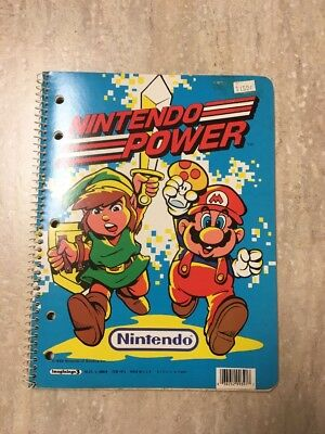 Vintage 1988 Nintendo Power Legend of Zelda Super Mario Spiral Notebook